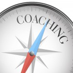 detailed illustration of a compass with coaching text, eps10 vector